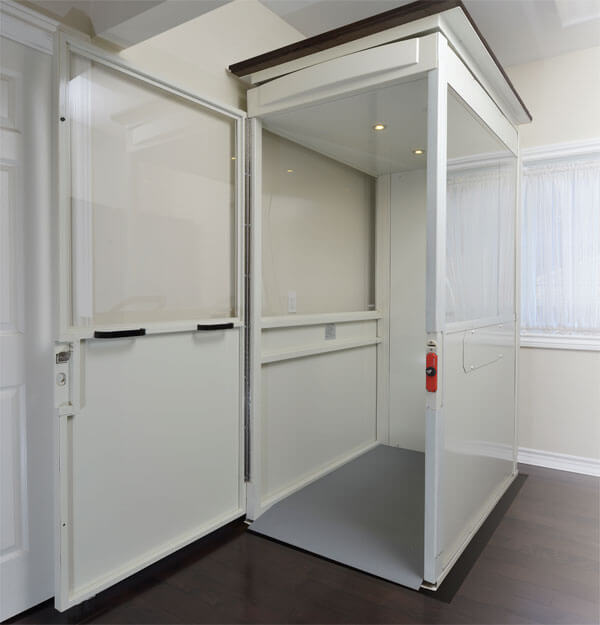 Savaria Telecab Elevator in white