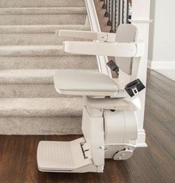 Bruno Elan stair lift at bottom of stairs
